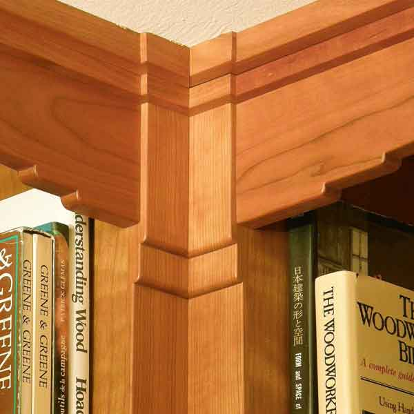 Study bookcase detail.
