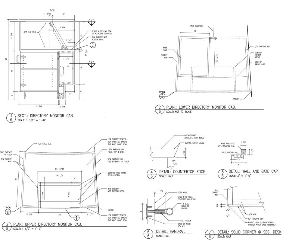 Cabinet Section Drawing