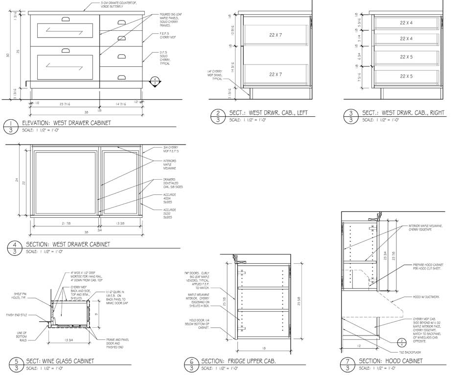 Study Bookcase Drawings, Page 3