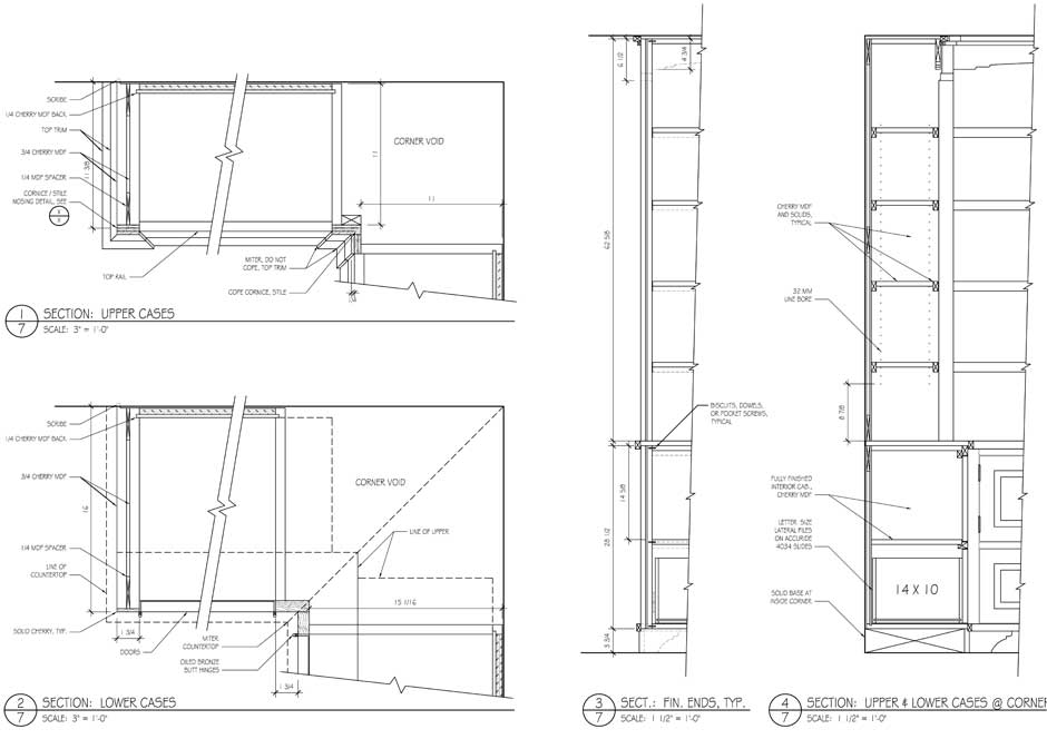 bookcase design drawings